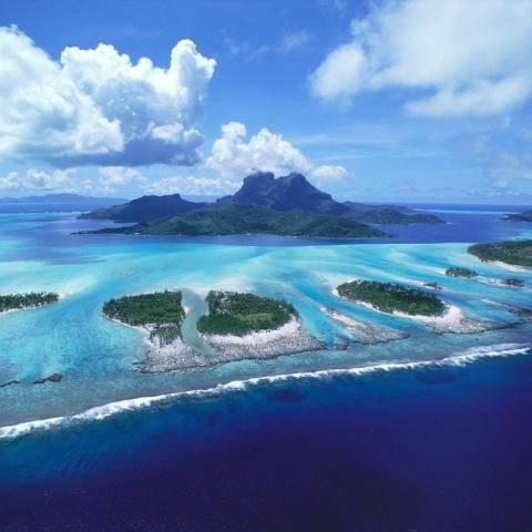 Reefs of Bora Bora, French Polynesia