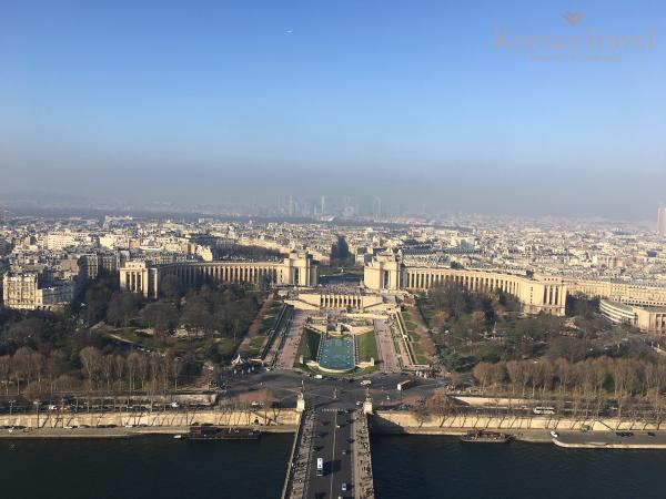 Вид с Эйфелевой башни фото
