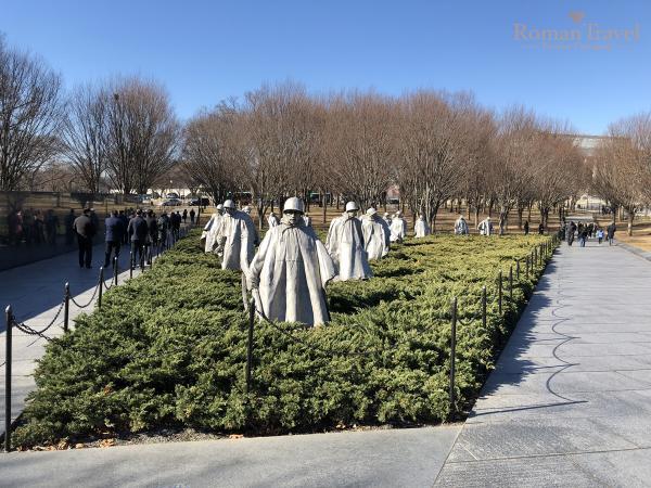Вашингтон. Мемориал ветеранов корейской войны
