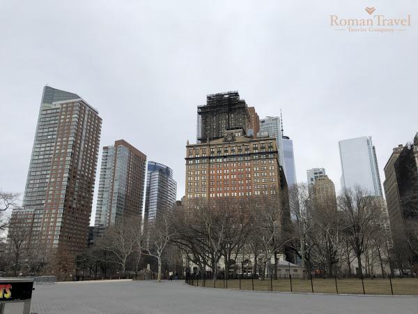 США. Нью-Йорк. Вид на Манхэттен