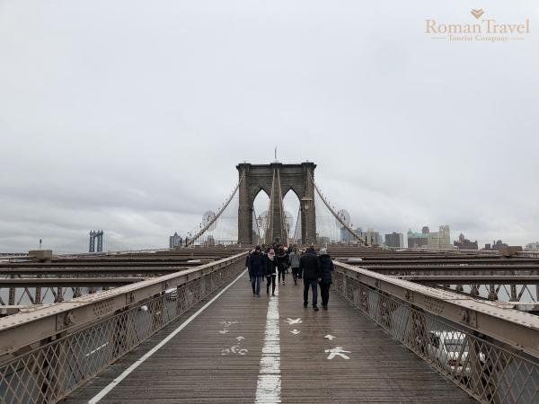 США. Нью-Йорк. Остров Манхэттен. Бруклинский мост