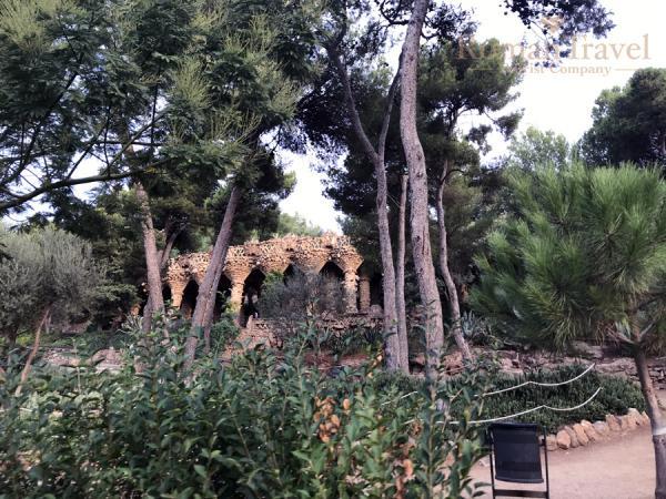 Испания. Барселона. Парк Гуэль природа