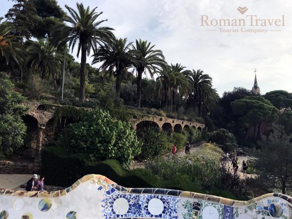 Испания. Барселона. Парк Гуэль Гауди