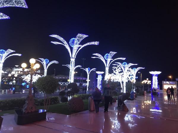 Египет. Шарм эль Шейх. Сохо Сквер вечером