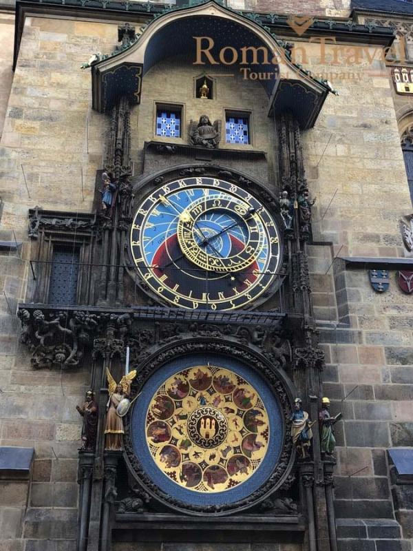 Чехия. Прага. Староместская площадь. Часы