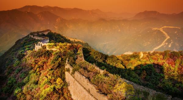 Великая китайская стена. Вечер